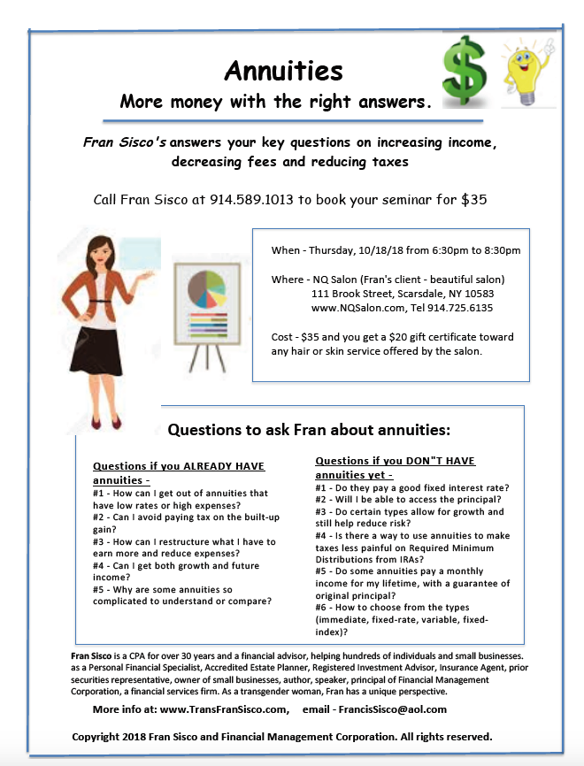 1_A_P_Flyer_FranSiscoSeminar_Annuities_RightAnswers_100718
